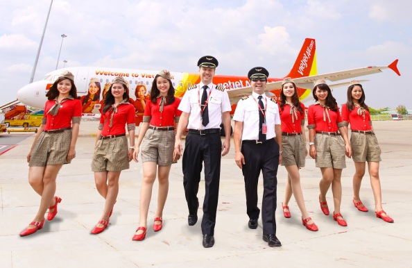 VietJetAir's flight crew gets ready for international operation